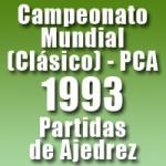 Partidas del Campeonato Mundial de Ajedrez 1993 (Clásico) – PCA
