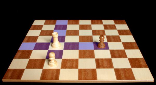 Donde la Torre se puede mover y capturar :: Pieza del Ajedrez :: Aprender a jugar ajedrez