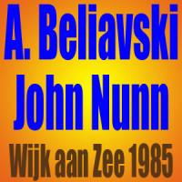 Aleksandr Beliavski vs John Nunn – Wijk aan Zee 1985