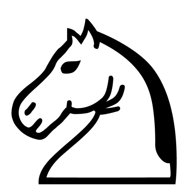 Caballo blanco :: Font de Ajedrez Chess Leipzig :: Fuente