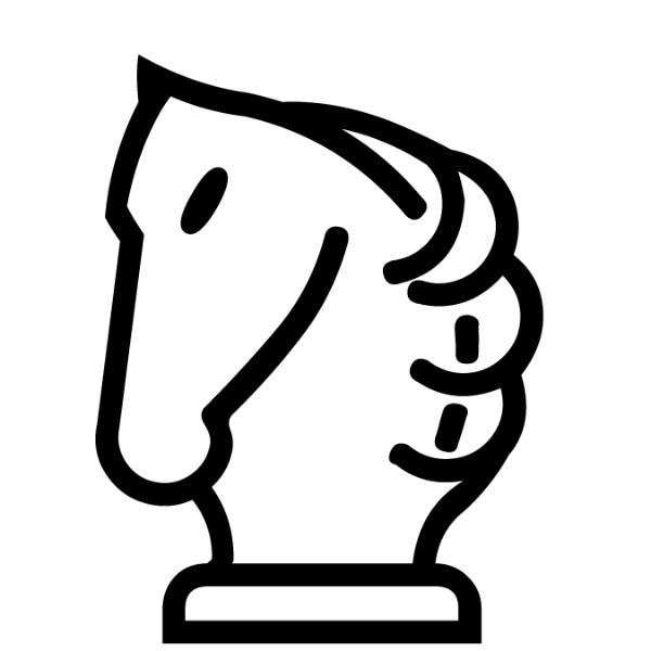 Caballo blanco :: Font de Ajedrez Chess Medieval :: Fuente