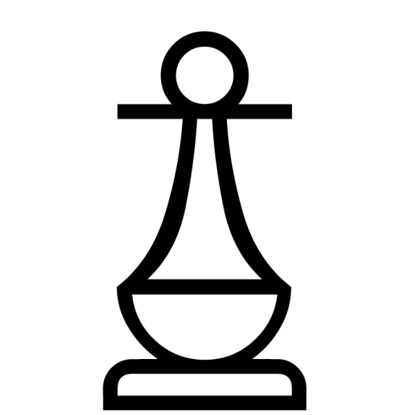 Peón blanco :: Font de Ajedrez Chess Medieval :: Fuente