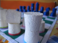 Piezas de Ajedrez hechas con tapones de corcho