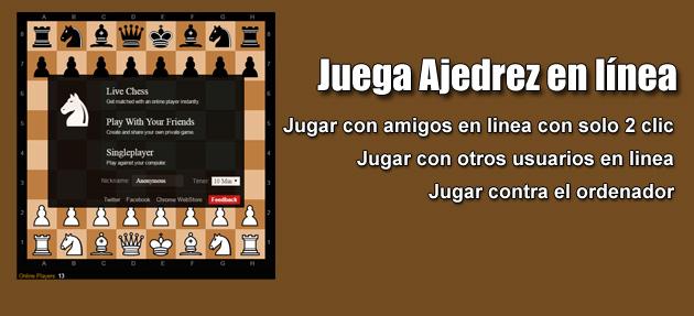 En Línea :: Juega Ajedrez en línea con un Amigo