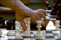 Rompecabezas deslizante: Jugando ajedrez