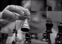 Rompecabezas deslizante: Niño jugando ajedrez