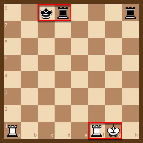 Para el Enroque se requiere que el Rey ni la Torre se hayan todavía movido del inicio de la partida, no haya ninguna pieza entre las dos, que el Rey no esté en jaque, que el Rey no cruce y no llegue en casillas atacadas.
