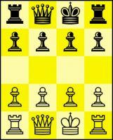 Ajedrez 4×5 con torres y reina