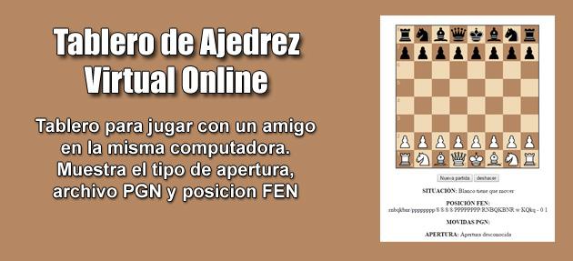 Tablero de Ajedrez Virtual Online