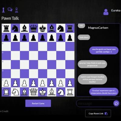 Ajedrez con Chat para dos jugadores