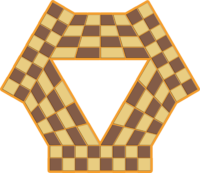 Tablero triangular de la variante ajedrez para 3 jugadores para imprimir