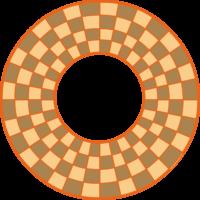 Tablero ajedrez circular 3 jugadores
