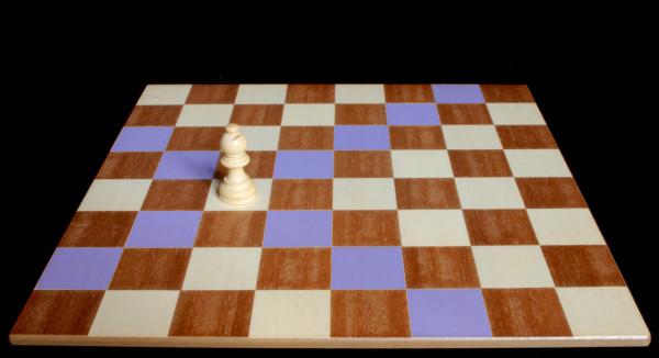 El Alfil sobre la casilla blanca donde se puede mover :: Pieza del Ajedrez :: Aprender a jugar ajedrez