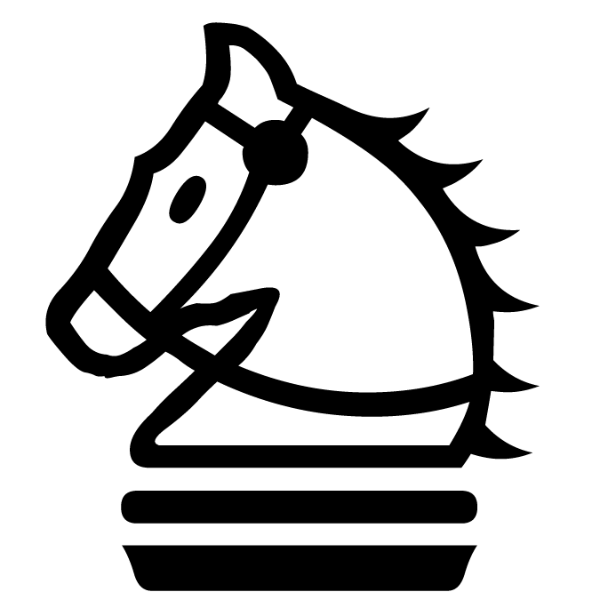 Caballo blanco :: Font de Ajedrez Chess Magnetic :: Fuente