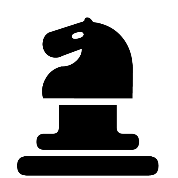 Caballo negro :: Font de Ajedrez Chess Marroquin :: Fuente