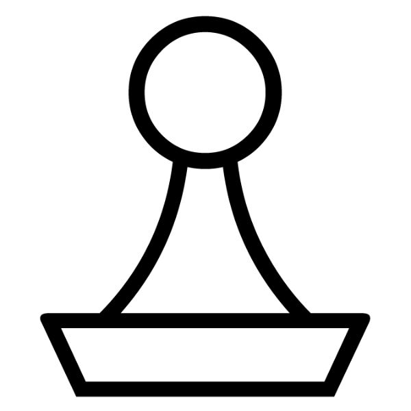 Peón blanco :: Font de Ajedrez Chess Harlequin :: Fuente