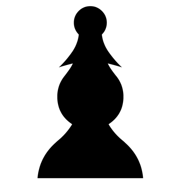 Peón negro :: Font de Ajedrez Chess Leipzig :: Fuente