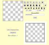 Editor FEN Diagrama de Ajedrez Estático que crea imagen gráfica