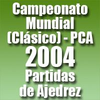 Partidas del Campeonato Mundial de Ajedrez 2004 (Clásico) PCA