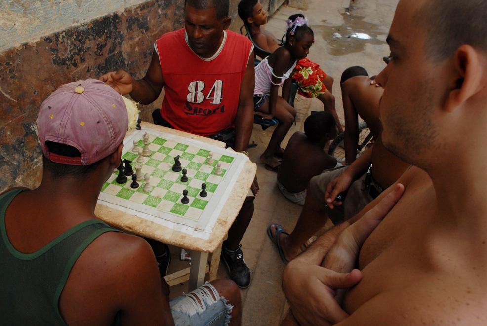 Cuba, La Habana :: Jugando ajedrez en la calle