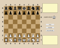 Juego de Ajedrez para jugar con un Amigo con la Computadora