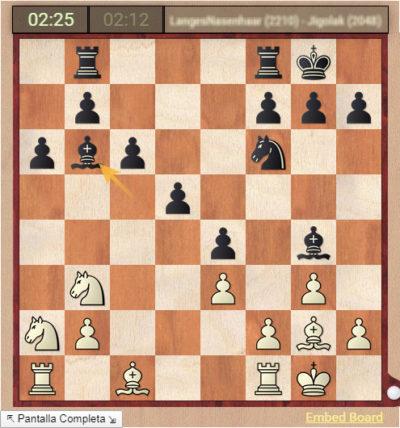 Partidas de ajedrez en vivo