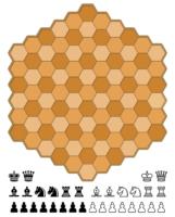 Juego de Ajedrez Hexagonal para imprimir