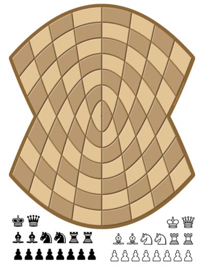 Juego de ajedrez parabolico para imprimir