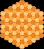 Tablero de la variante Ajedrez Hexagonal para imprimir