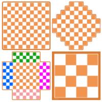 Tableros de diferentes tamaños de variantes de ajedrez para imprimir
