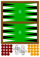 Juego del Backgammon para imprimir