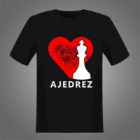 Diseño de corazón y Rey para estampar camisetas negras o oscuras