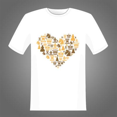Diseño de corazón de piezas para estampar sobre camisetas