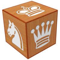 Dado con las piezas de ajedrez