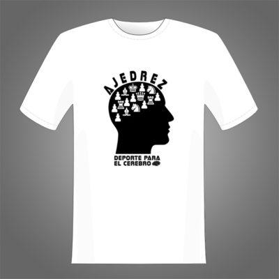 Diseño ajedrez deporte para el cerebro para estampar camisetas