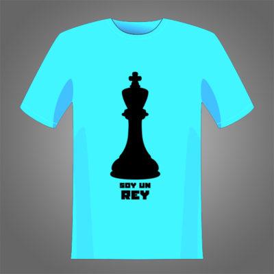 Pieza con escrita soy un rey para estampar sobre camisetas