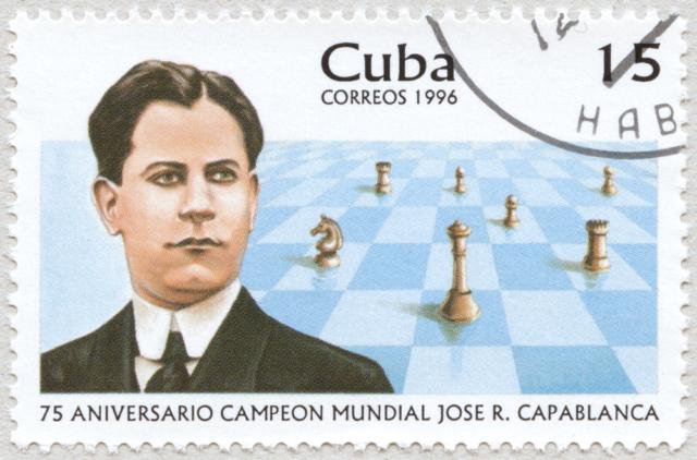 75 Aniversario Campeon Mundial Jose Raul Capablanca. 15.  Correos 1996. Cuba.
