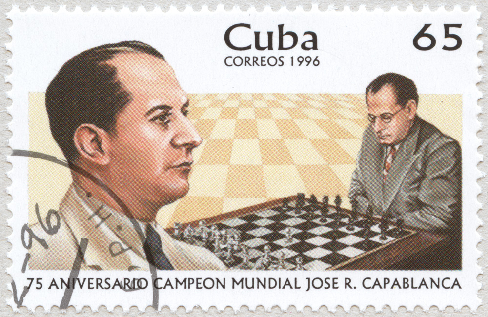 75 Aniversario Campeon Mundial Jose Raul Capablanca. 65.  Correos 1996. Cuba.