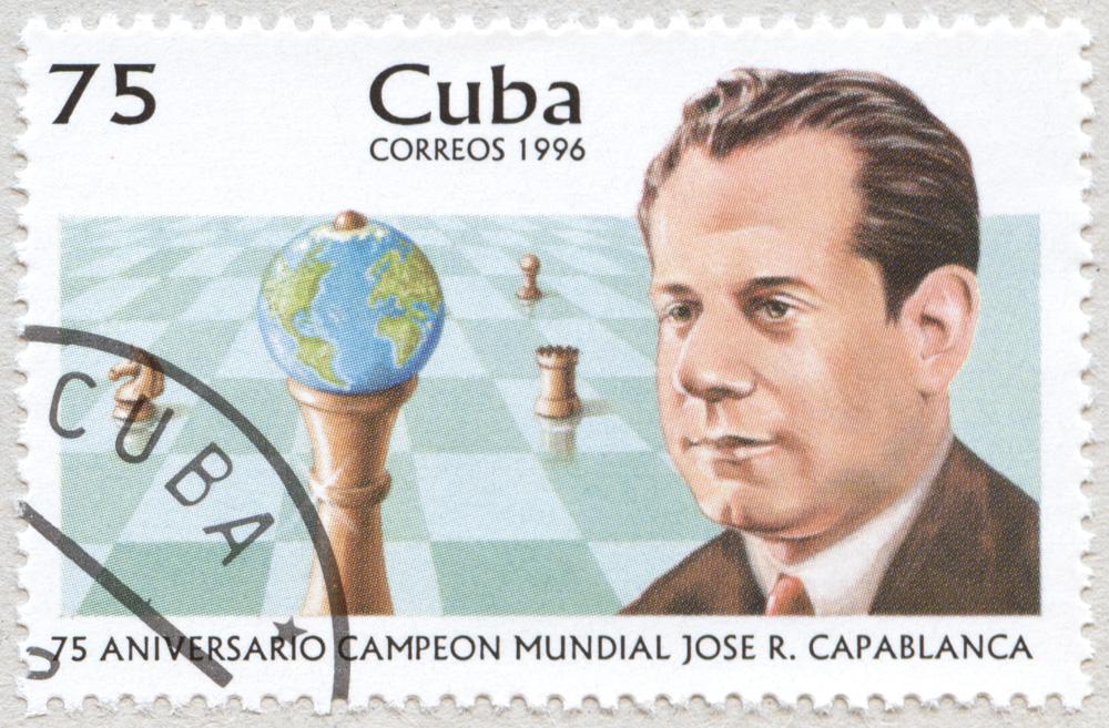 75 Aniversario Campeon Mundial Jose Raul Capablanca. 75.  Correos 1996. Cuba.