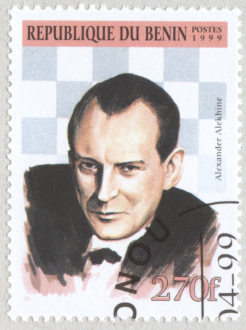 Alexander Alekhine. República de Benín 1999.
