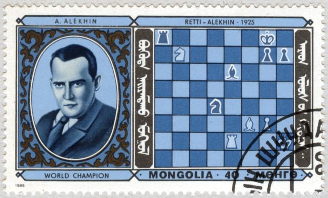 Alexander Alekhine. Retti - Alekhine 1925. Mongolia 1986.
