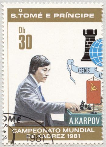 Anatoli Karpov. Campeonato Mundial de Ajedrez 1981. Santo Tomé y Príncipe 1981.