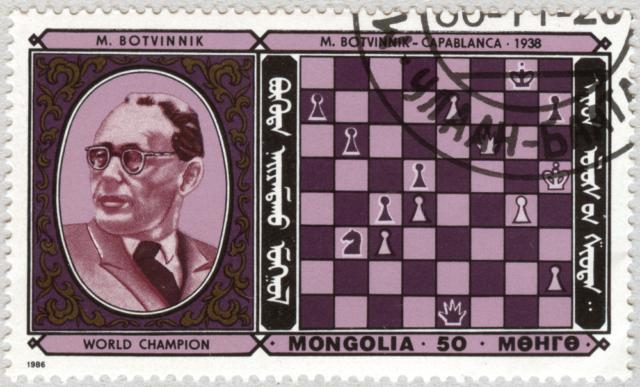 Mijail Botvinnik. Botvinnik - Capablanca 1938. Mongolia 1986.