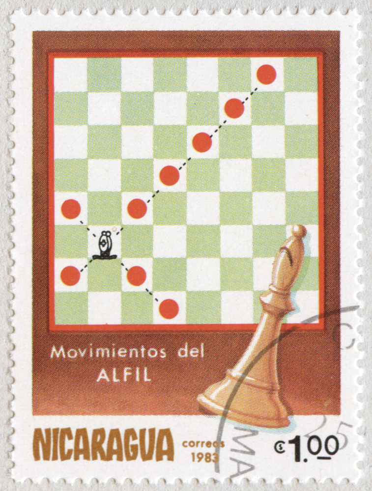 Movimiento del Alfil. Correos 1983. Nicaragua.
