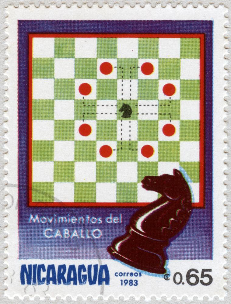 Movimiento del Caballo. Correos 1983. Nicaragua.