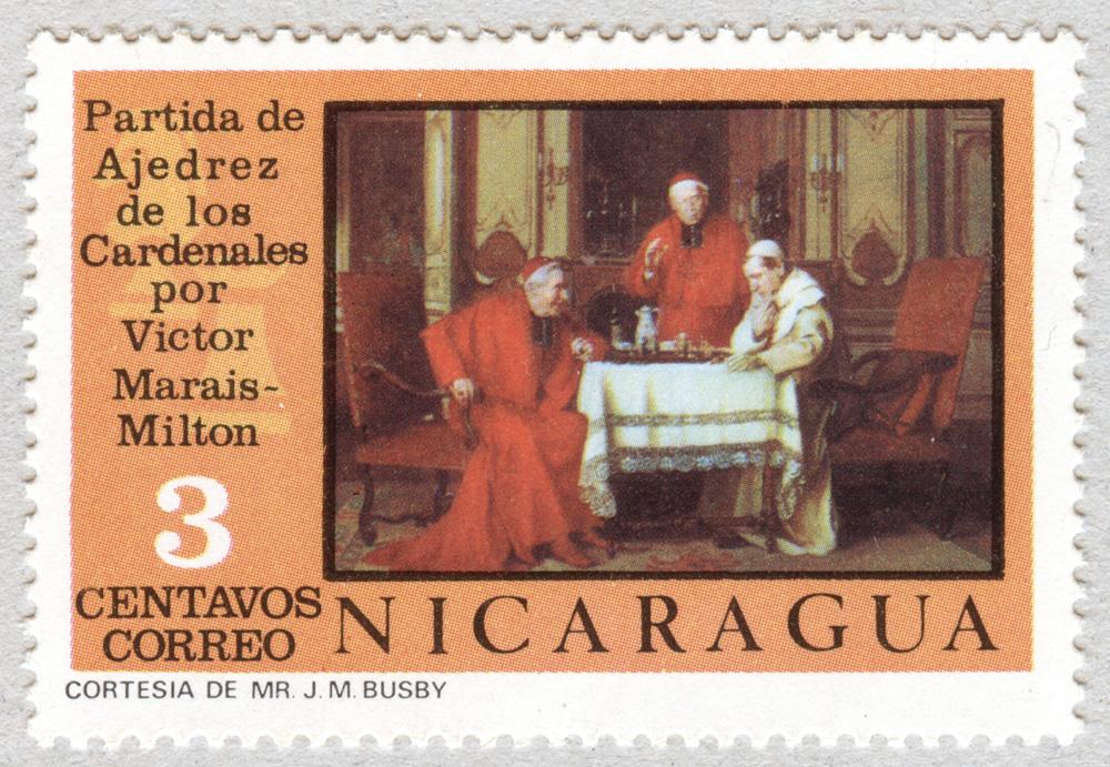 Partida de Ajedrez de los Cardenales por Victor Marais-Milton. Nicaragua.