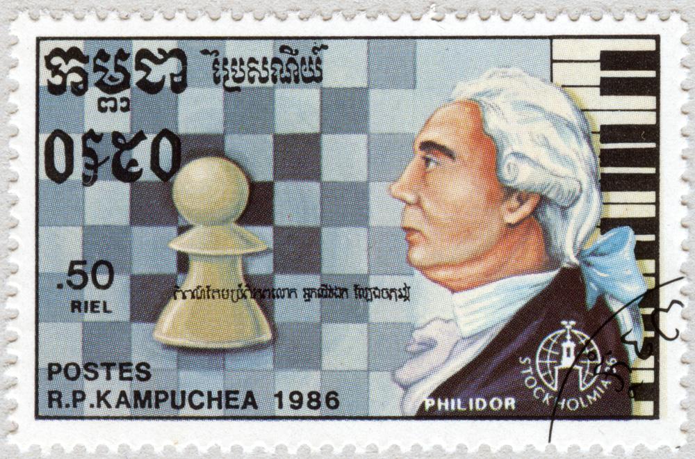 François Philidor. Stockholmia 86. República Popular de Kampuchea 1986.