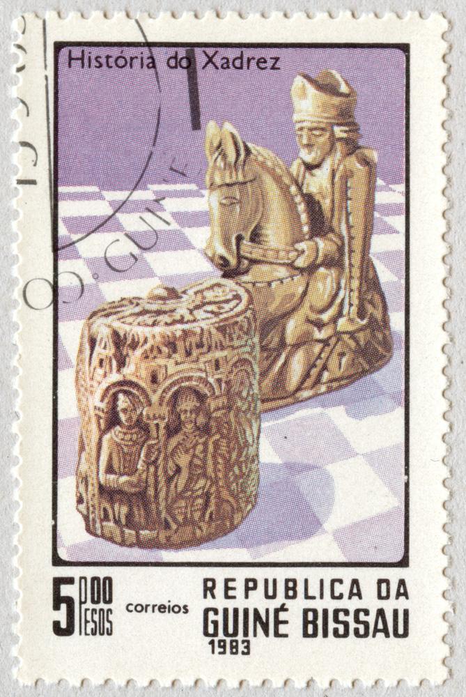 Historia del Ajedrez. Piezas históricas. República de Guinea Bissau 1983.