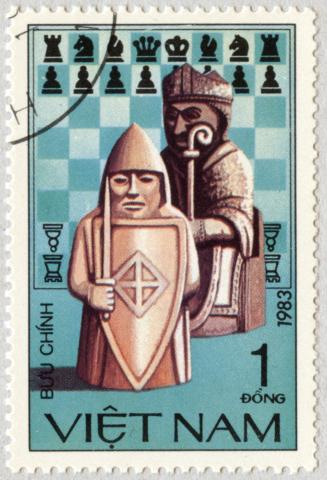 Piezas de Ajedrez: Rey y Alfil. Vietnam 1983.