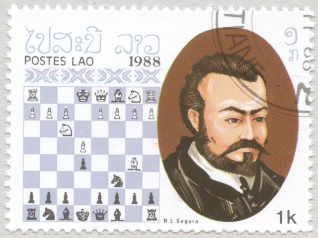 Ruy Lopez De Segura. Laos 1988.